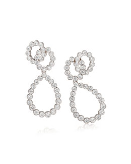 Looped Diamond Clip Earrings