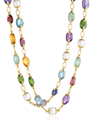 Fulco Mixed Semiprecious Stone Necklace, 39""