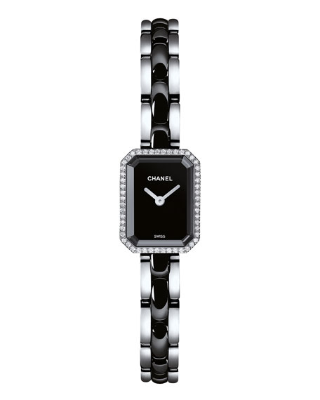 PREMIÈRE Ceramic Bracelet Watch with Diamonds