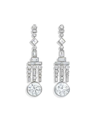 Estate Ravasco Art Deco Diamond Chandelier Earrings