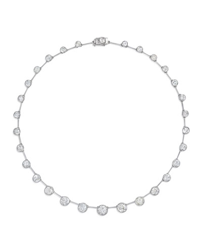Estate Art Deco Diamond & Platinum Riviére Necklace