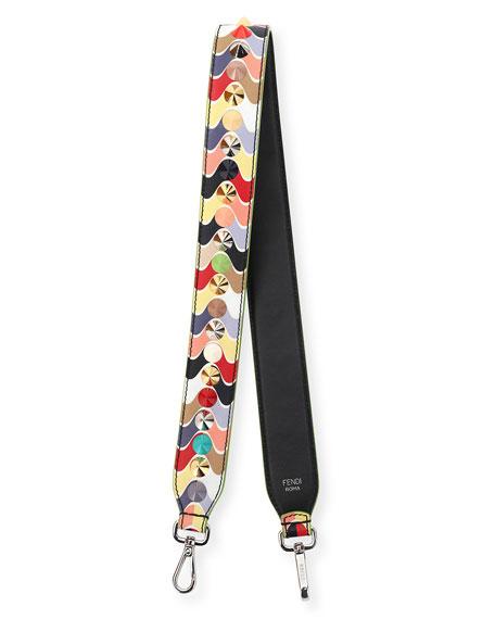 Strap You Hypnotic Leather Shoulder Strap for Handbag, Multi