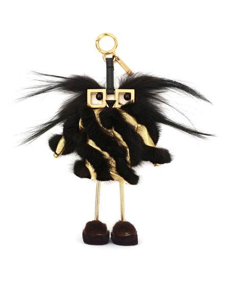 Fendi Witches Power Bank Fur Charm for Handbag,