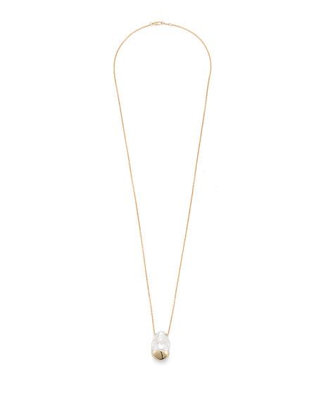 Sliding Baroque Pearl Pendant Necklace