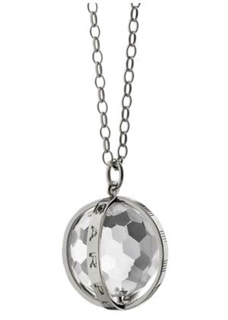 "Extra Large Silver Carpe Diem Pendant Necklace, 30""L"