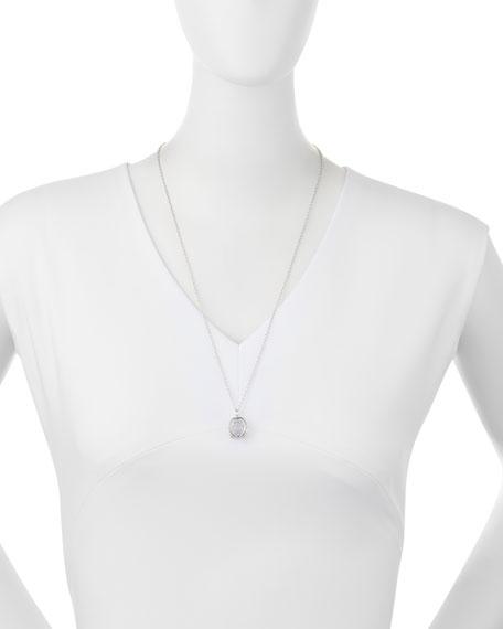 "Small Sterling Silver ""Carpe Diem"" Charm Necklace, 30""L"