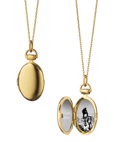 Anna 18k Gold Petite Locket Necklace  17L