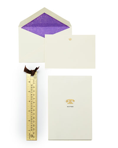 Note Cards, Tablet, & Ruler Boxed Set