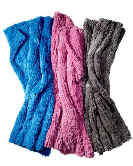 Rabbit Fur Throw Blanket