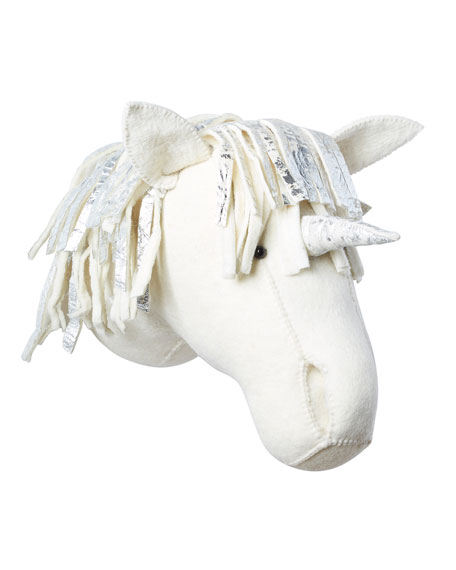 Metallic Unicorn Head Wall Mount