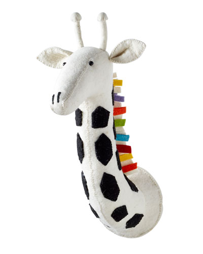 Rainbow Giraffe Head Wall Mount