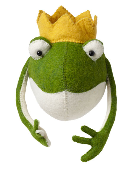 Fiona Walker England Frog Prince Head Wall Mount,