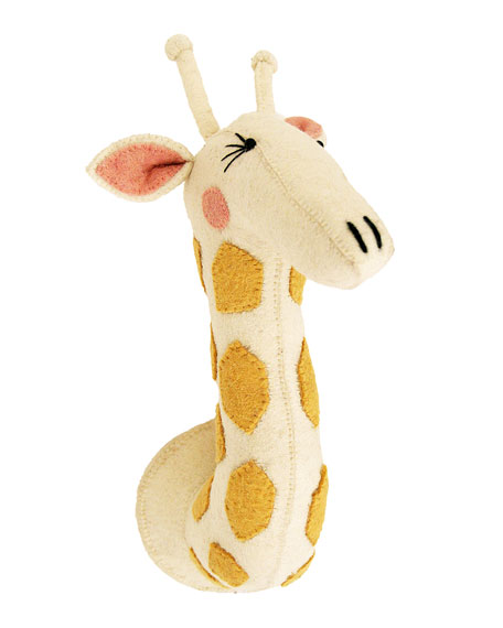 Fiona Walker England Giraffe Head Wall Mount, Multi