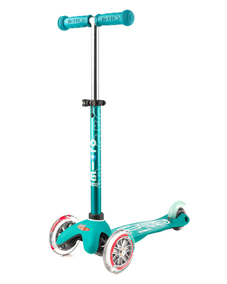 Micro Mini Deluxe Kick Scooter, Aqua, Ages 2-5