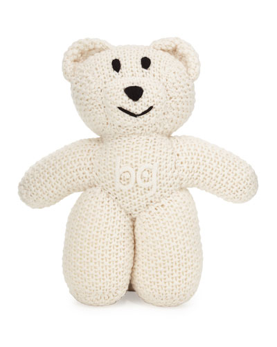 Knit Cashmere BG Teddy Bear, Ivory