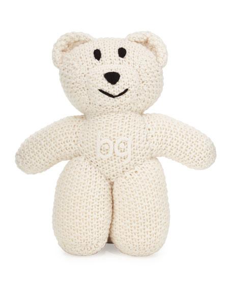 Knit Cashmere BG Teddy Bear, Ivory