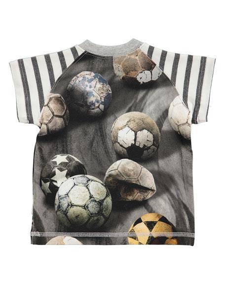 Egon Raglan Soccer Ball Jersey Tee, Gray, Size 3-18 Months