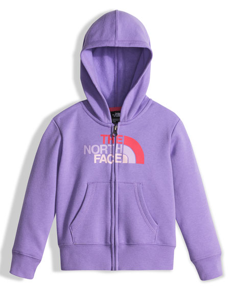Hooded Fleece Logo-Wear Sweatshirt, Purple, Size 2-4T