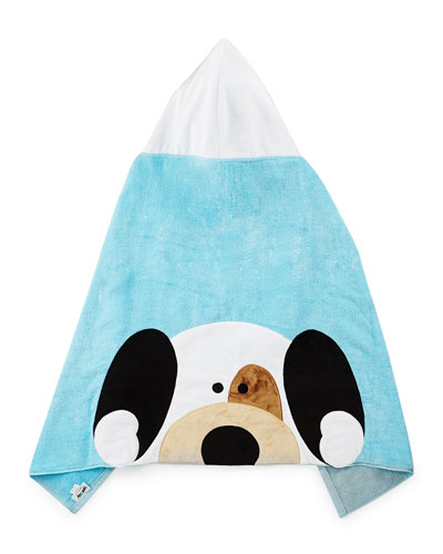 Peek-A-Boo Hooded Towel, Blue
