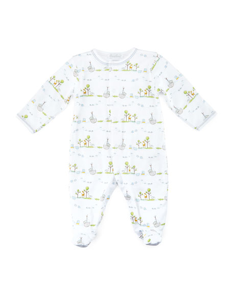 Noah's Ark Printed Footie Pajamas, Size Newborn-9 Months