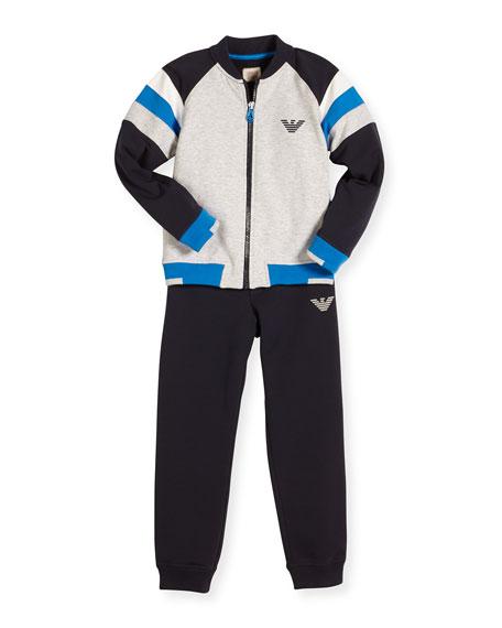 Armani Junior Stretch Jersey Track Jacket & Pants,