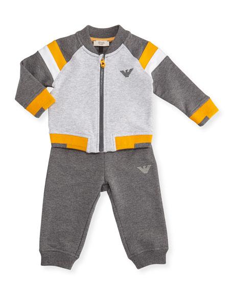 Stretch Jersey Track Jacket & Pants, Gray, Size 6-24 Months