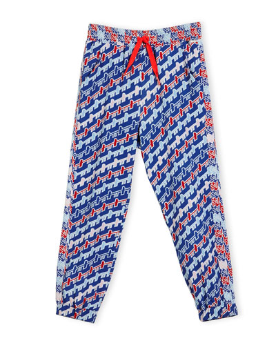 Baya Abstract Track Pants, Royal, Size 14-16