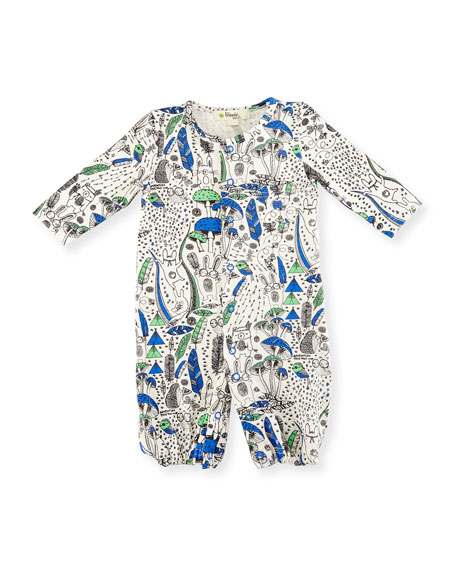 bonniemob Printed Convertible Stretch Jersey Coverall,