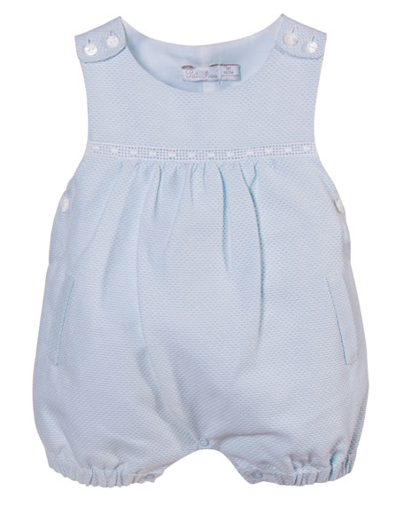Pique Overall Playsuit, Blue, Size 3-12 Months