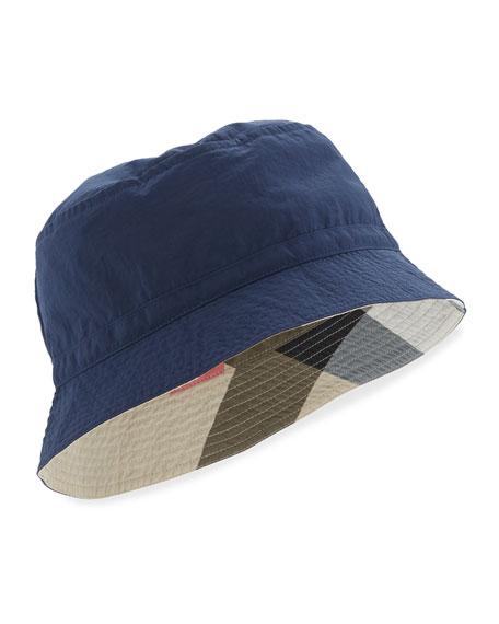 Boys' Channing Twill Bucket Hat, Indigo
