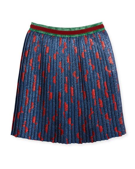 Metallic Pleated Skirt, Size 4-12