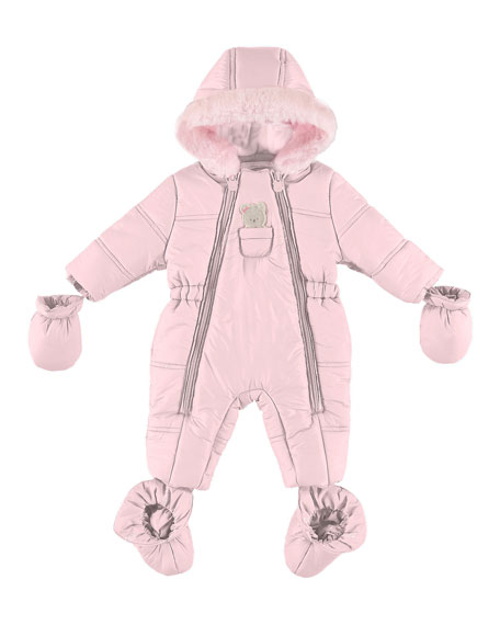 Mayoral Puffer Snowsuit with Bear in Pocket, Size