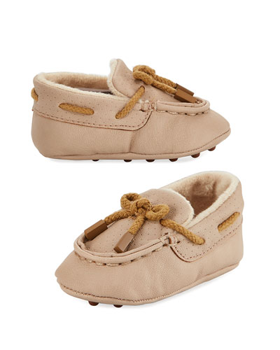 Faux-Leather Moccasin, Infant