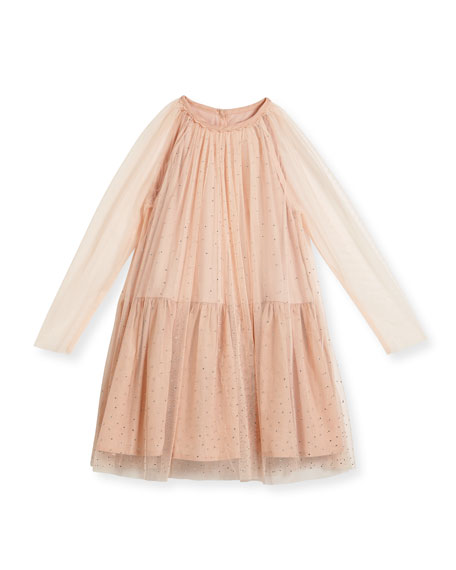 100890c58 Stella McCartney Misty Sparkle Embellished Tulle Dress, Size 4-14