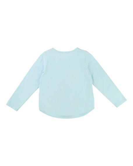 Embellished Sequin Teacup T-Shirt, Size 4-8