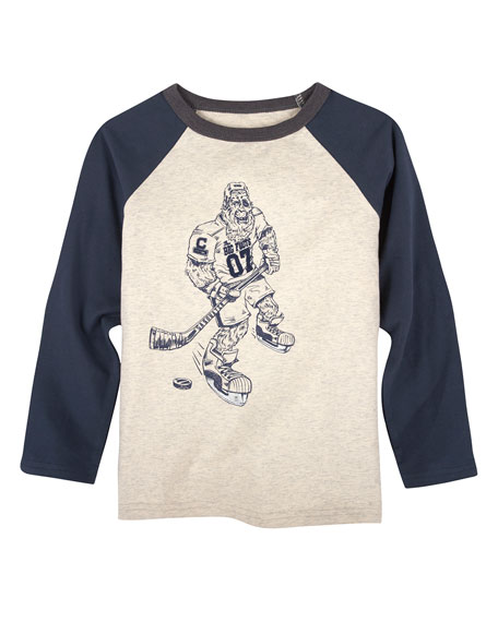Andy & Evan Big Foot Hockey Player T-Shirt,