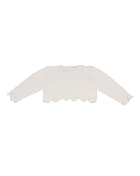 Scalloped-Edge Cardigan, Size 3M-2T