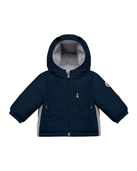 Moncler Constant Hooded Coat w/ Contrast Sides, Size