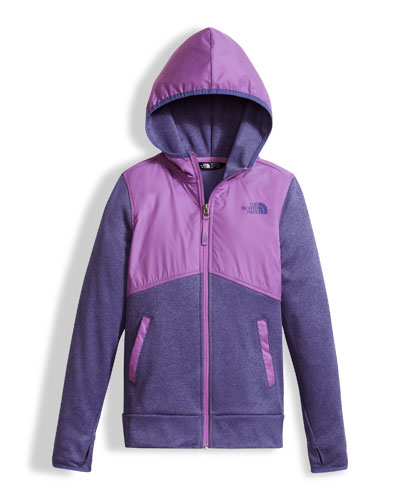 Kickin' It Two-Tone Zip Hoodie, Girls' Size XXS-XL