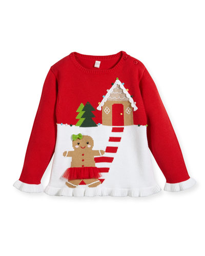 Girls' Gingerman House Knit Sweater, Sizes 2T-10