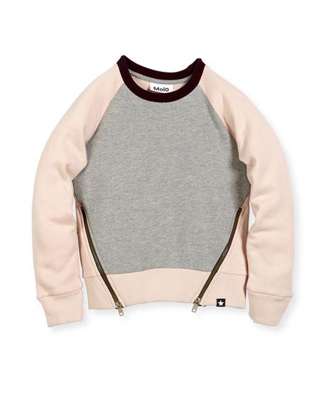 Colorblock Hanney Zip Sweatshirt, Size 3-14
