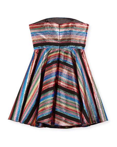 Ellie Multi-Stripe Illusion Lurex® Strapless Dress, Size 8-16