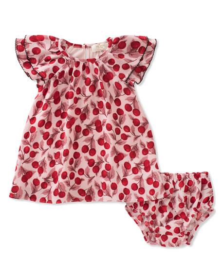 ruffle-sleeve dress w/ bloomers, size 12-24 months