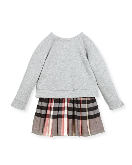 81dcb69dd17e Burberry Francine Sweatshirt Check Dress