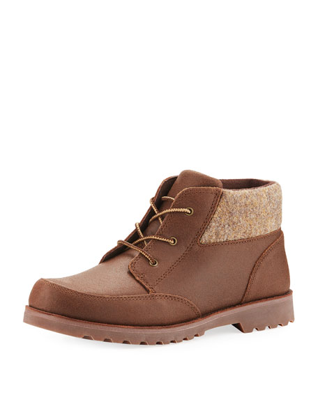 Orin Suede Hiking Boot, Chocolate, Youth
