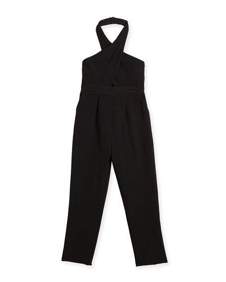 Milly Minis Jumpsuits LULU CADY STRETCH JUMPSUIT