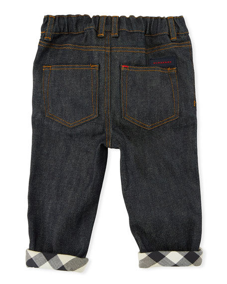 Relaxed Stretch Jeans, Size 6M-3Y