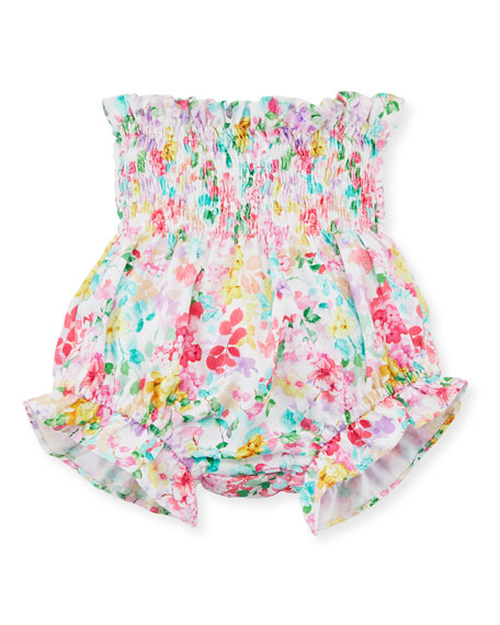 Embroidered Bishop Dress, w/ Floral Bloomers, Size 3-12 Months