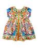 Maiolica & Leopard-Print Poplin-Jersey Dress w/ Bloomers, Size 12-30 Months
