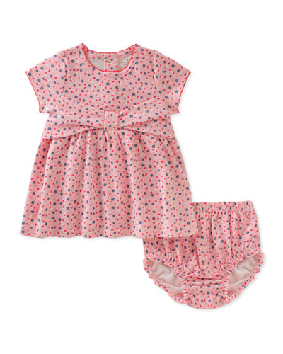 kammy bow dress w/ bloomers, pink, size 3-9 months